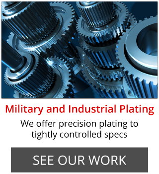Military and Industrial Plating | We offer precision plating to tightly controlled specs | See Our Work | polished metal gears